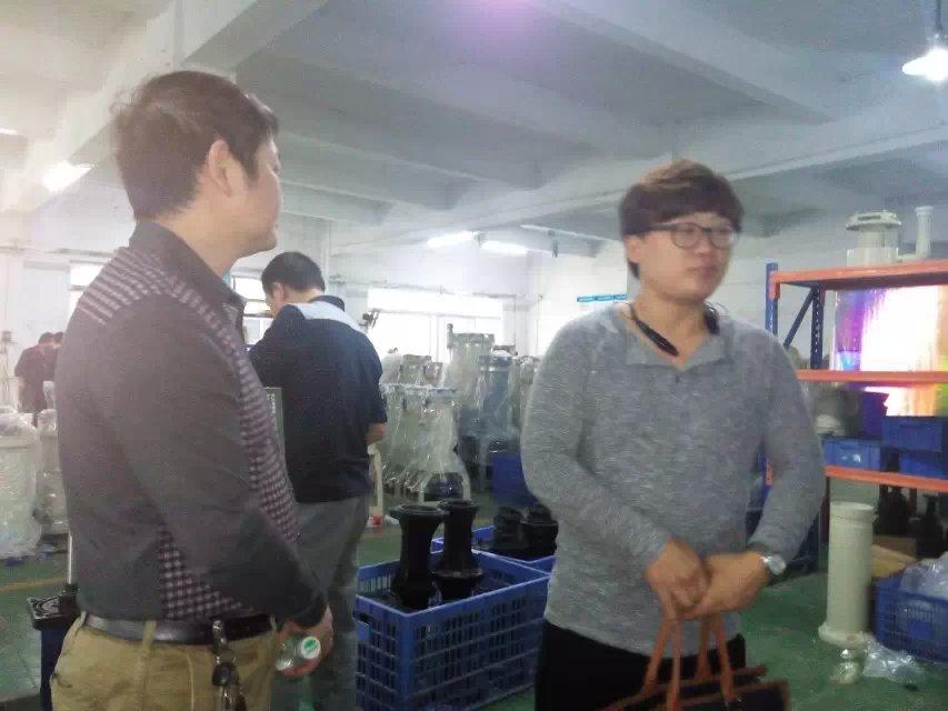 韩国客户来访