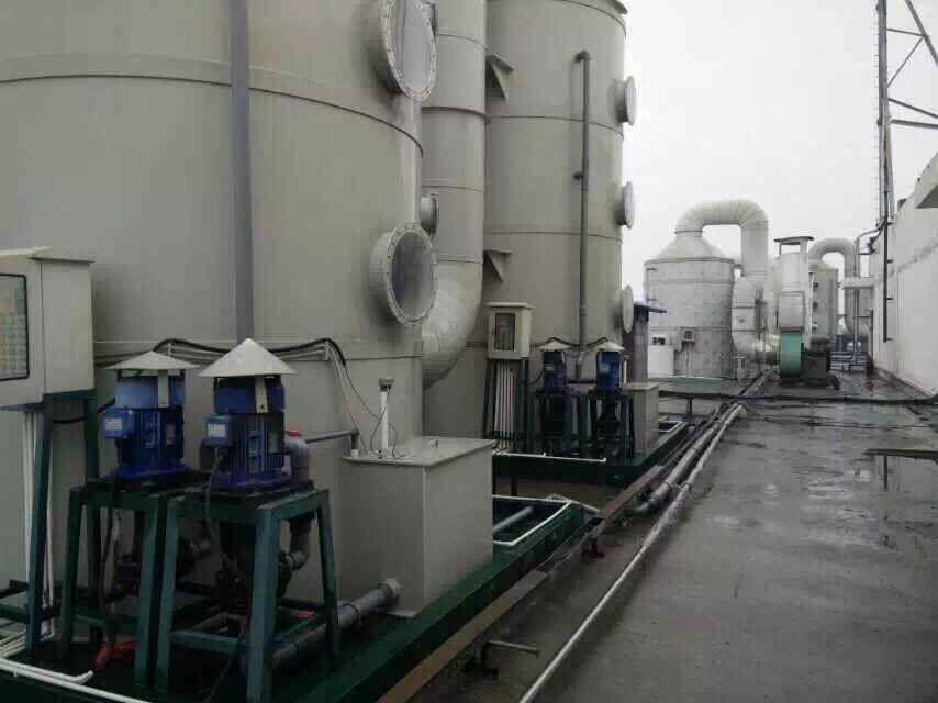 洗涤塔,废气塔选耐腐蚀立式泵的好处